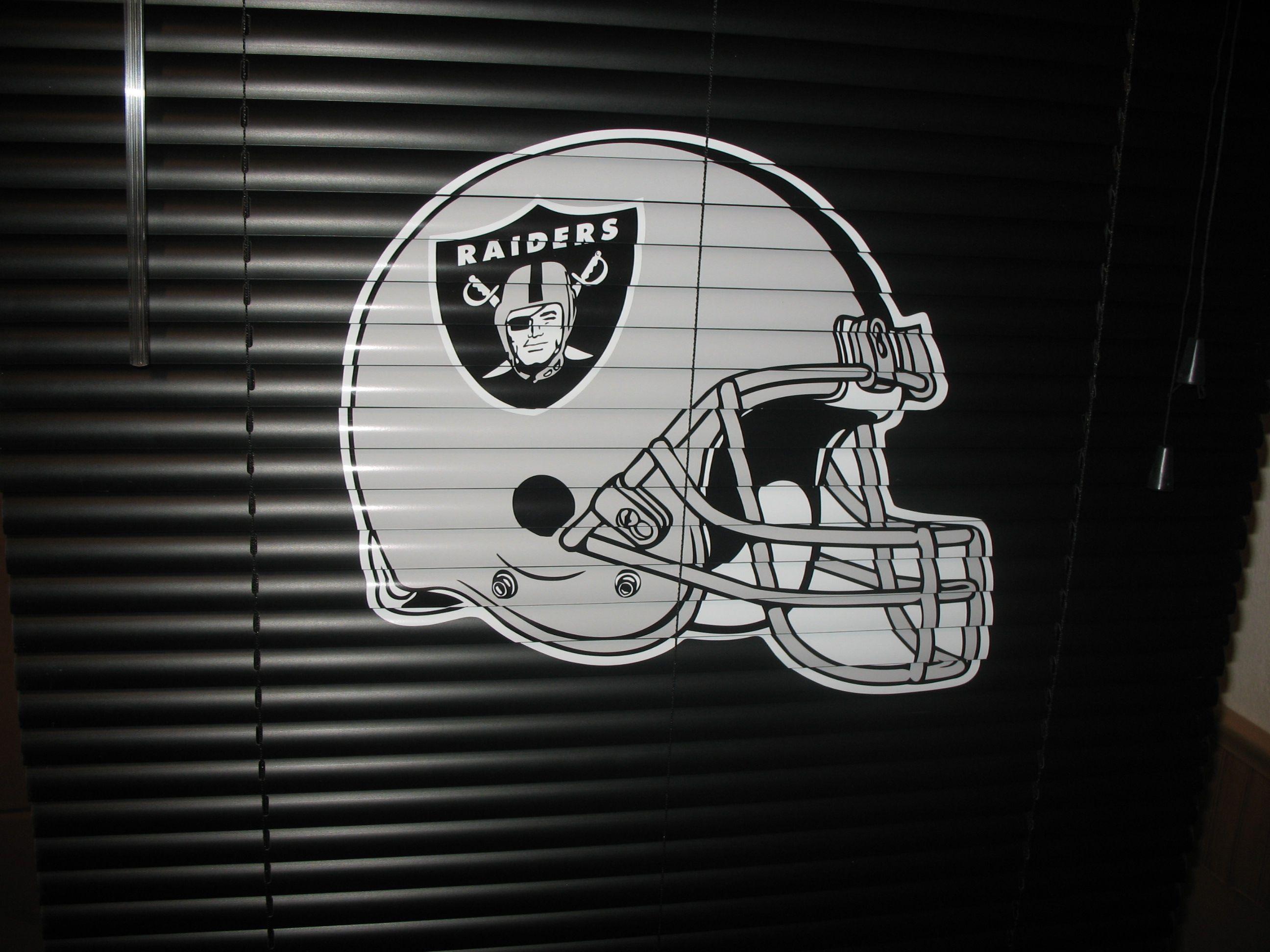 Oakland Raiders Man Cave Ideas : Raiders blinds man cave caven pinterest