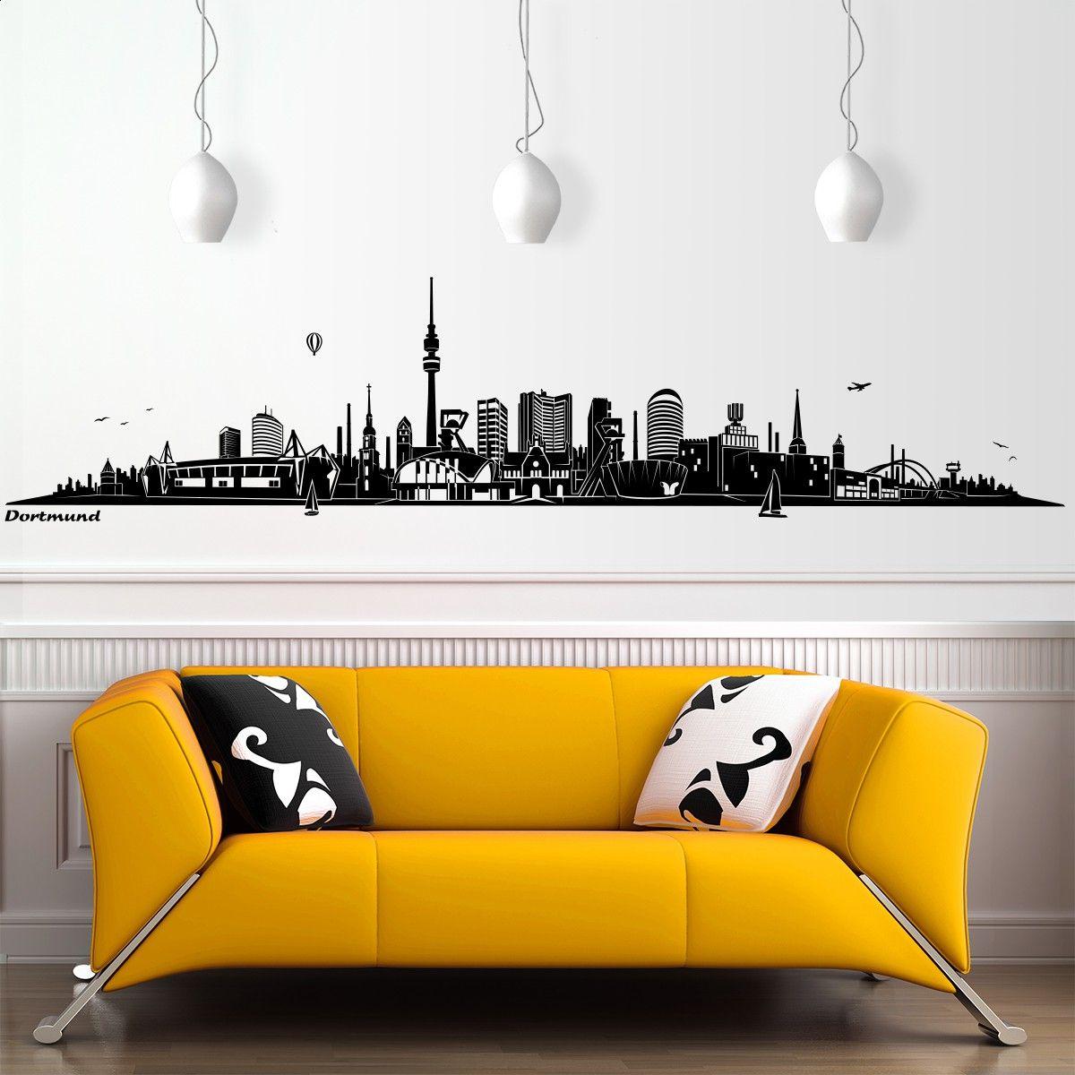 Best Wandtattoo Dortmund ohne Fluss Skyline in Gr en und Farben Hochwertiger Skyline Wandsticker hier online bestellen
