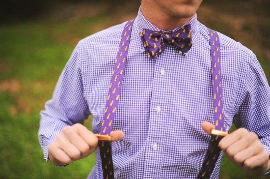 Weddbook ♥ Purple. Bow ties. I'm sold.
