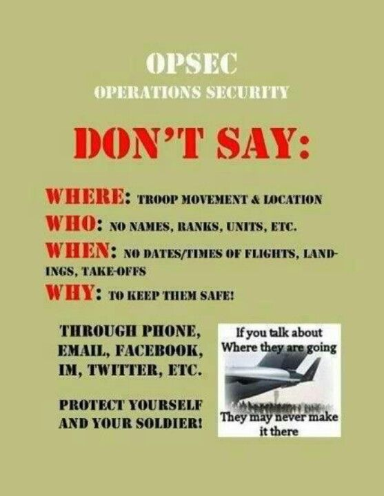Opsec Keep Them Safe Www Semperwifey Blogspot Com Army