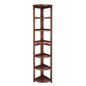 6 Shelf Flip Flop Folding Corner Bookcase Cherry Target Mobile