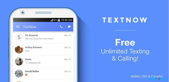 TextNow Apk Free Download For Android Latest v5.40.0