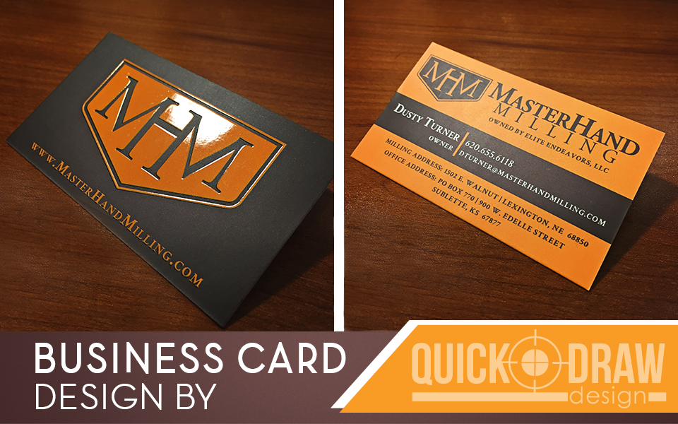 MasterHand Milling | Business Card | http://www.quick-drawdesign.com ...