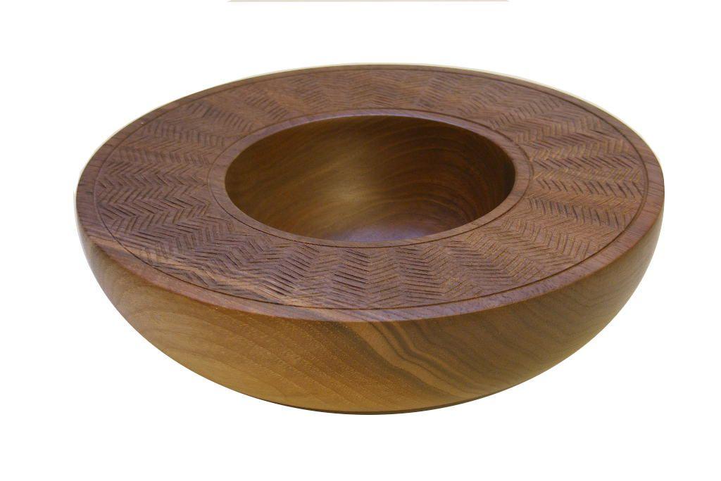 Wooden Decorative Bowls Carved Wooden Halfround Bowlmodern Walnut Home Decor $278