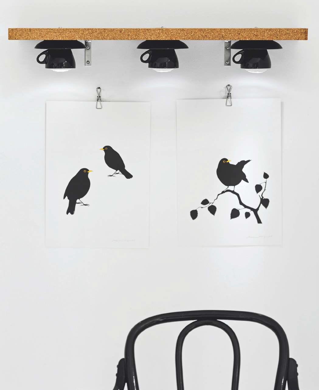 Tazzine con luce incorporata Create su una parete non utilizzata ...