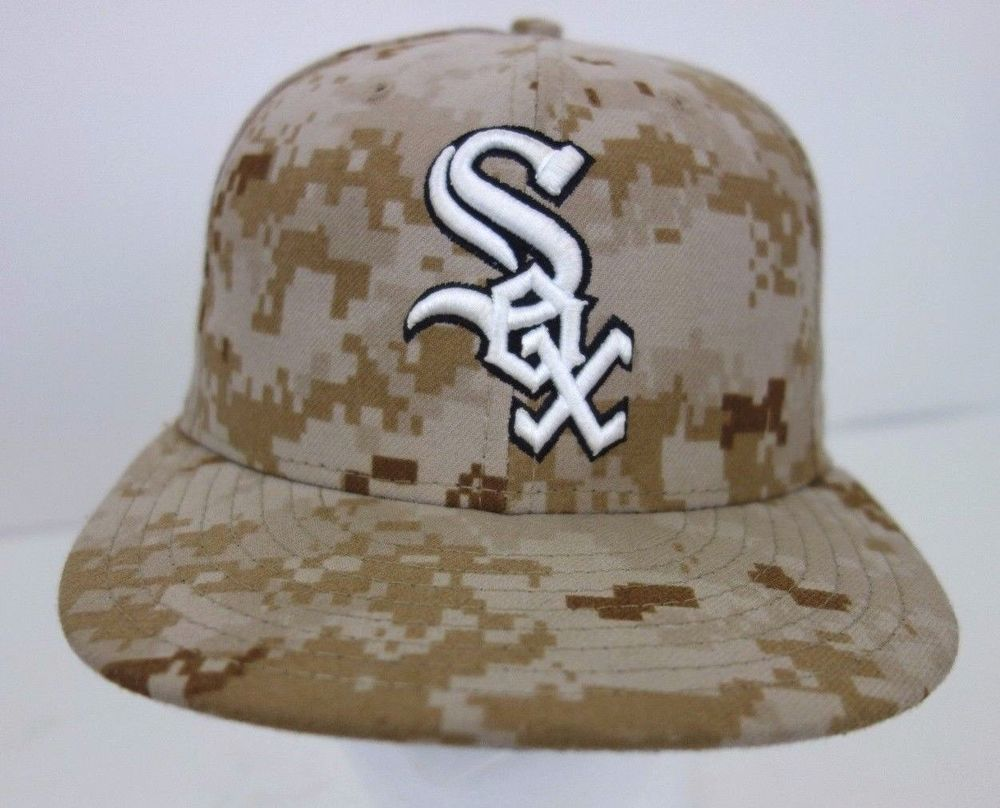 White Sox Digital Camo Memorial Day Fitted Hat Cap New Era 59 Fifty Size 7   NewEra  ChicagoWhiteSox 9d61b924d9d