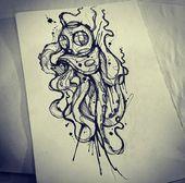 Photo of Helm Tauchen Octopus Tattoo Mehr, # Tauchen #Helm #Oktopus #octopustattooblackwork #Tattoo, # …