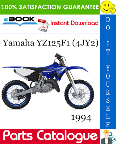 1994 Yamaha Yz125f1 4jy2 Motorcycle Parts Catalogue Manual Parts Catalog Yamaha Motorcycle