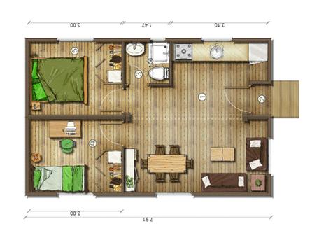 Dise o casa de campo peque as buscar con google casita for Programa diseno habitaciones gratis