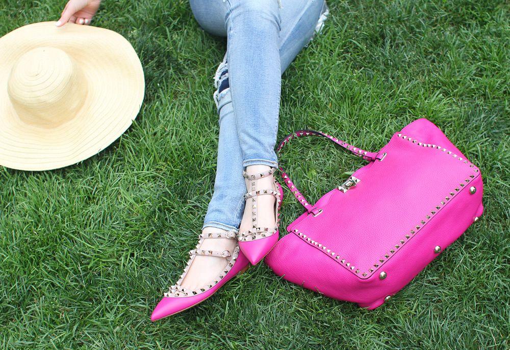 Purseblog Asks Do You Match Your Bag And Shoes Purseblog Valentino Rockstud Bag Shoes Valentino Rockstud