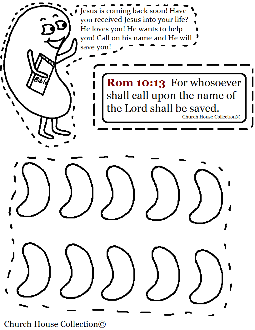 Jelly Bean Carryi… | Sunday School Coloring Pages- Bible Coloring ...