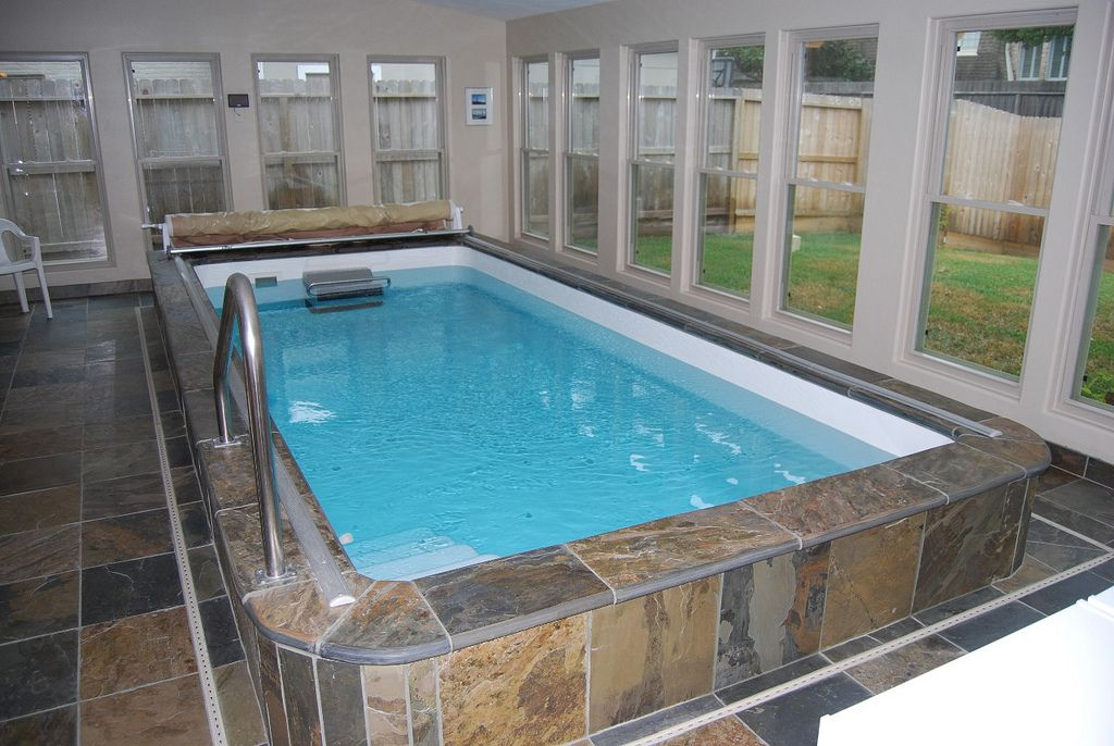 Swim At Home Year Round With An Indoor Fiberglass Endless
