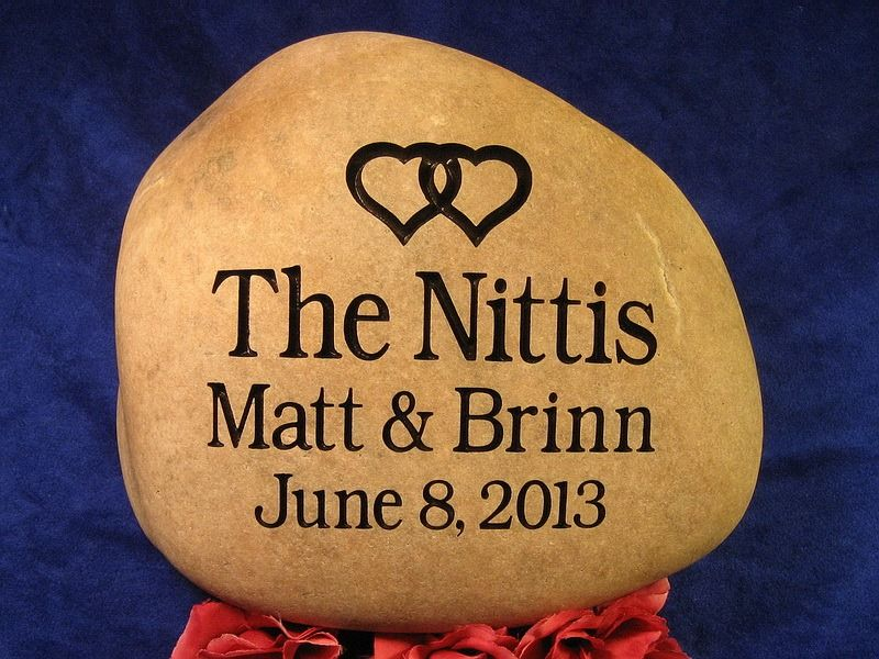 Wedding engraved stones custom oathing rocks anniversary stones