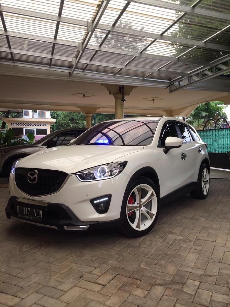 White Mazda CX-5 Simple Modification | Mazda CX-5 | Mazda ...