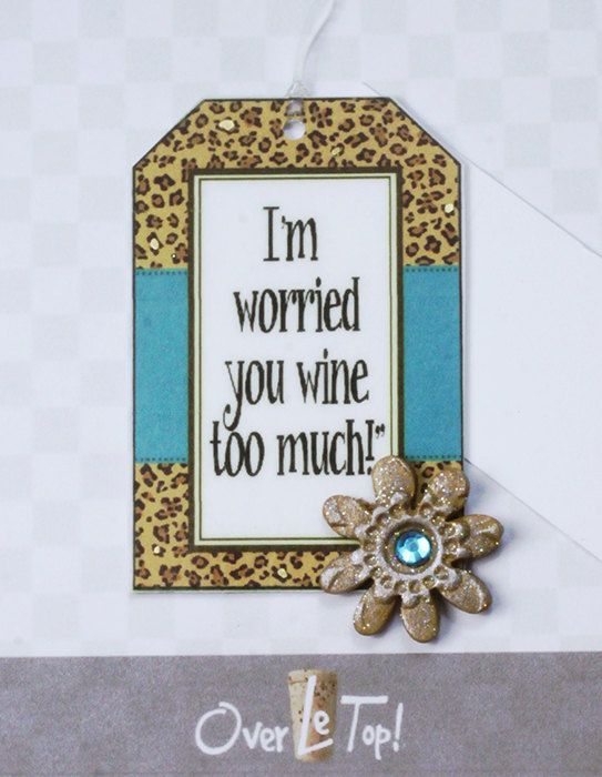 I'm Worried You WIne Too Much  Bottle Greetings by OverLeTop, $4.99