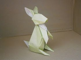 "Photo of KATAKOTO ORIGAMI: Rabbit and squirrel from ""Works of Hideo KOMATSU"""