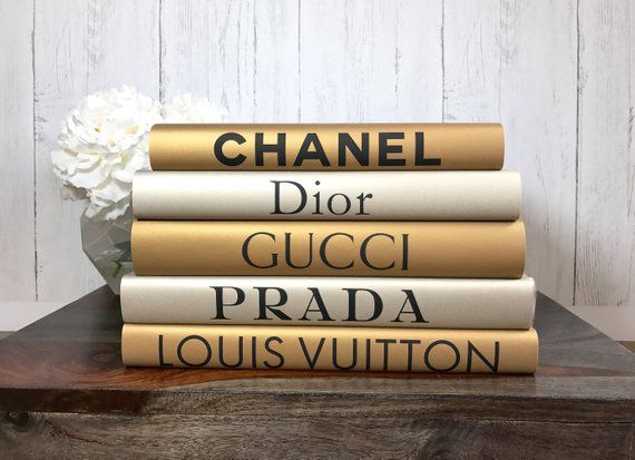 Gold and Silver Fashion Designer Inspired Book Set, Gold Silver Fashion Books, Fashion Coffee Table Books, Fashion Book Stack, Gold Books