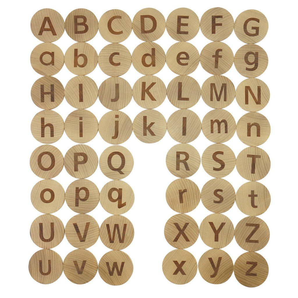 Tactile Wooden Alphabet from Dough.Tools.