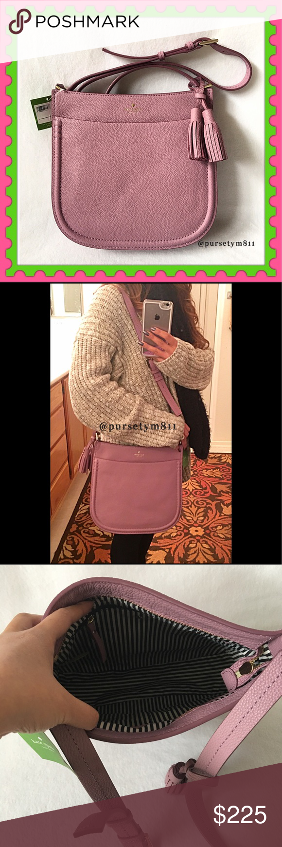 Authentic Kate Spade Leather Tassel Handbag AUTHENTIC ♠️️ Beautiful rum raisin color gorgeous leather handbag from Kate Spade Bag approximate measurements: 13 x 9 x 4.5 Crossbody & shoulder bag w/ adjustable long strap. 3 pockets inside & 1 front exterior compartment. Zipper top closure. New w/ tag. NO TRADE ❌ Price is firm. kate spade Bags #zippertop Authentic Kate Spade Leather Tassel Handbag AUTHENTIC ♠️️ Beautiful rum raisin color gorgeous leather handbag from Kate Spade Bag #zippertop