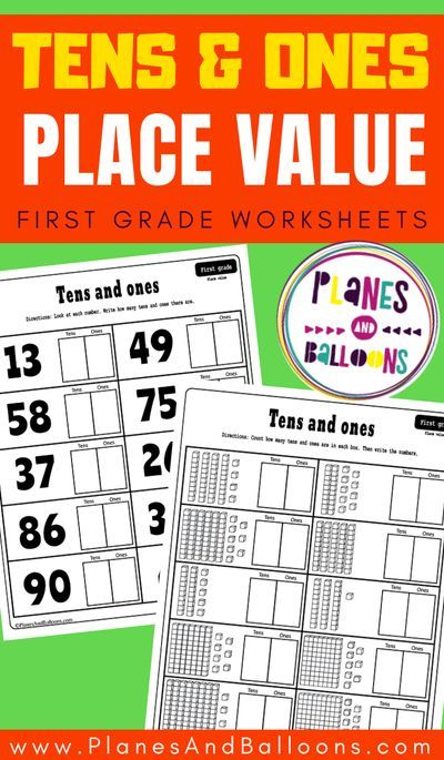 Place value worksheets for grade 1 - tens and ones ...