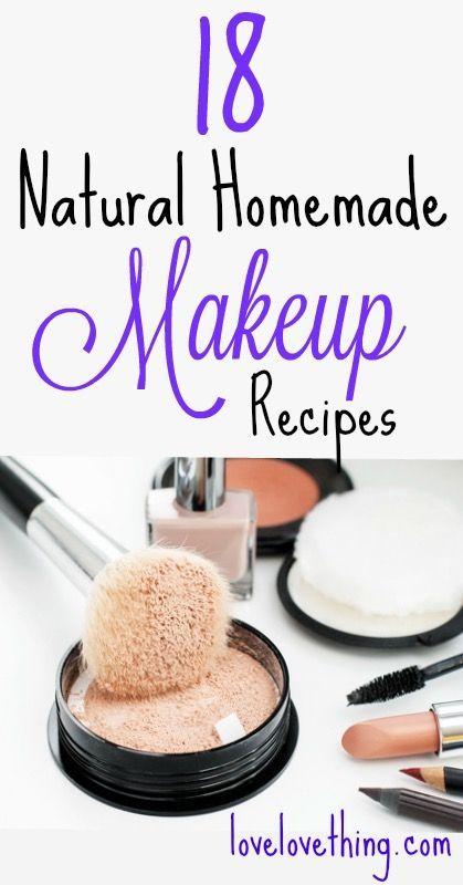 18 hausgemachte Make-up-Rezepte – es ist eine Liebe / Liebessache