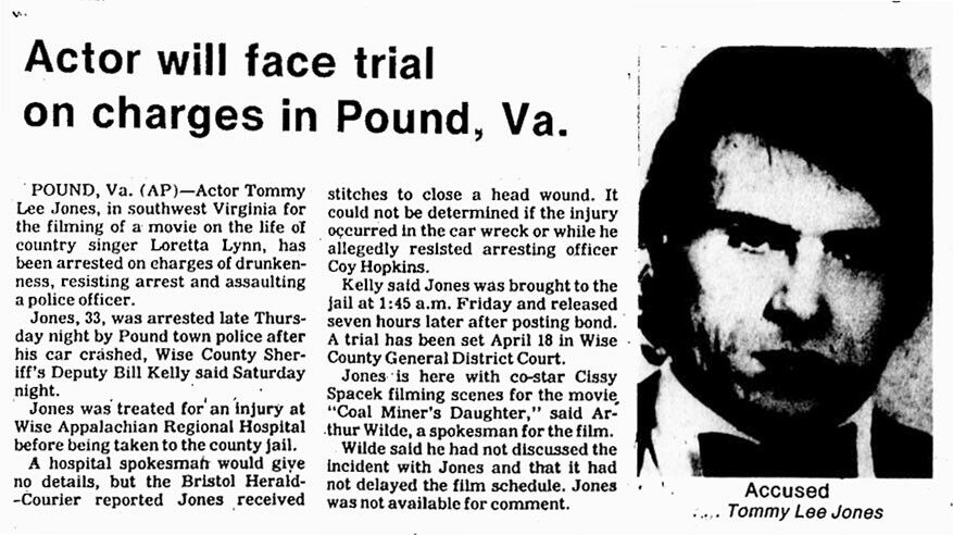 Tommy Lee Jones Arrested In Pound Va History Beautiful Dresses
