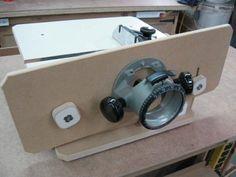 Table à toupie horizontale / Horizontal Router Table | Atelier du Bricoleur (menuiserie)…..…… Woodworking Hobbyist's Workshop