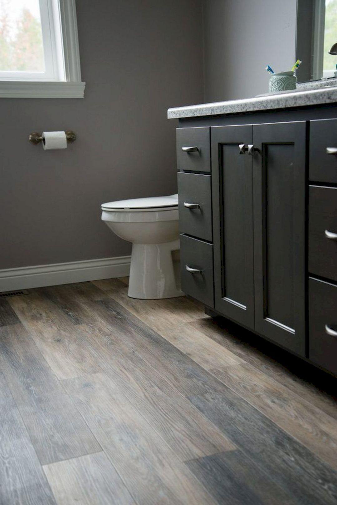 Astounding 35 Elegant Bathroom Wooden Floor Ideas To Look
