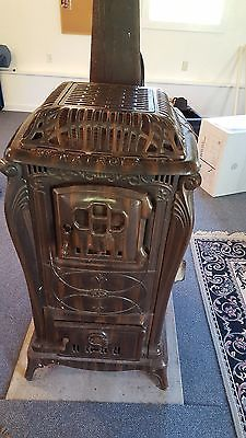 Vintage Coal Wood Parlor Stove Door Cool In Summer And Warm In Winter Home & Hearth