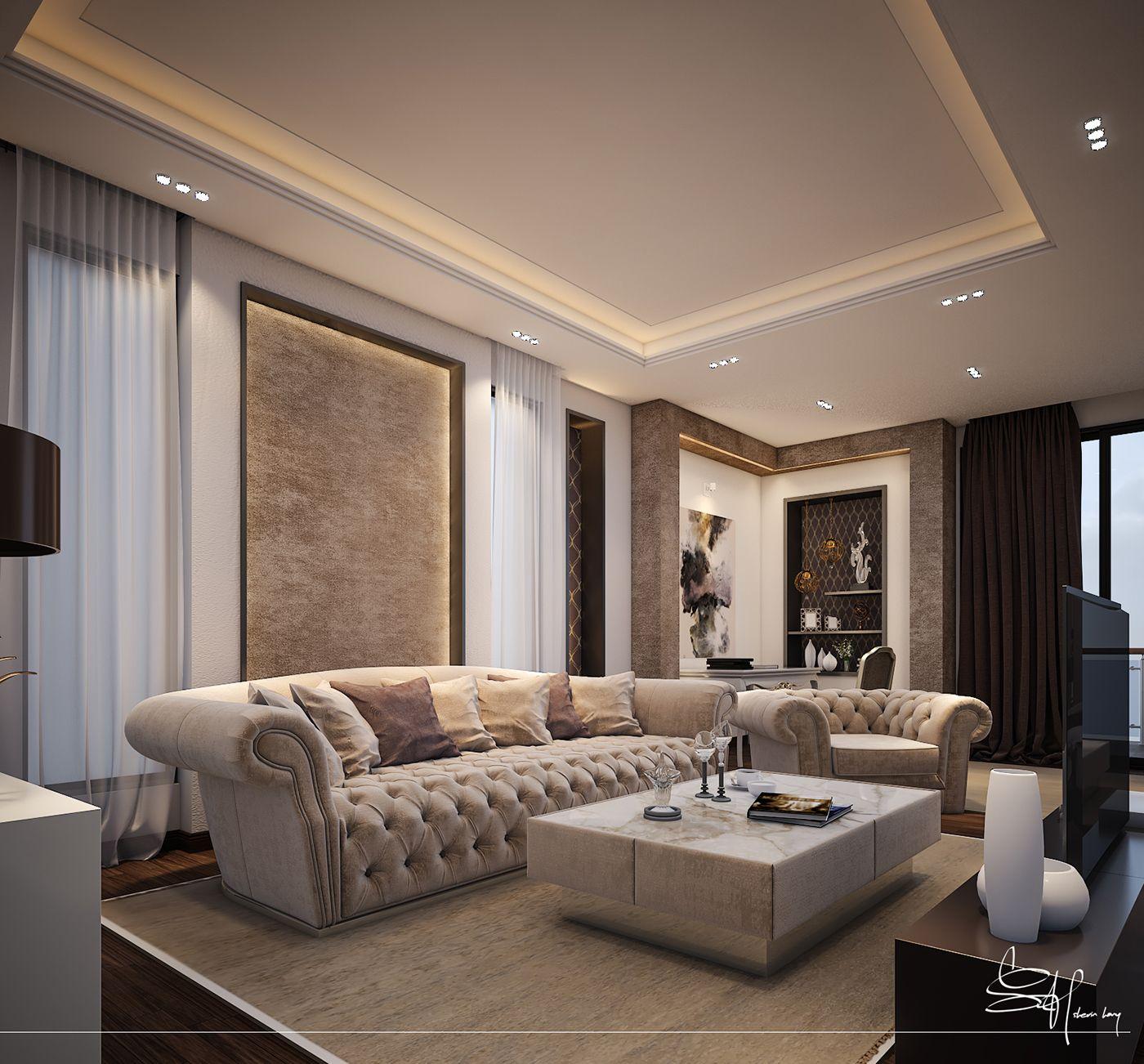 MASTER BEDROOM on Behance | False ceiling bedroom, False ...