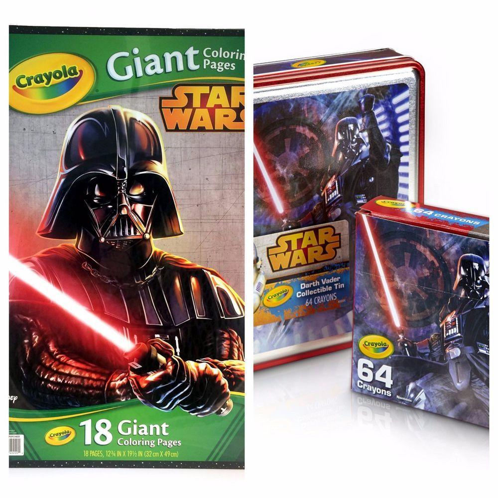 Star Wars Darth Vader Tin 64 Crayons And Giant Coloring Book Star Wars Darth Vader Darth Vader Star Wars