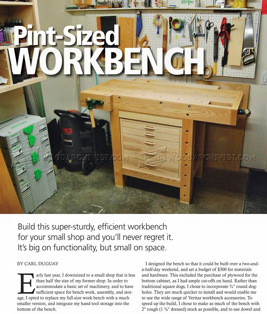 compact workbench plans - workshop solutions   woodworking