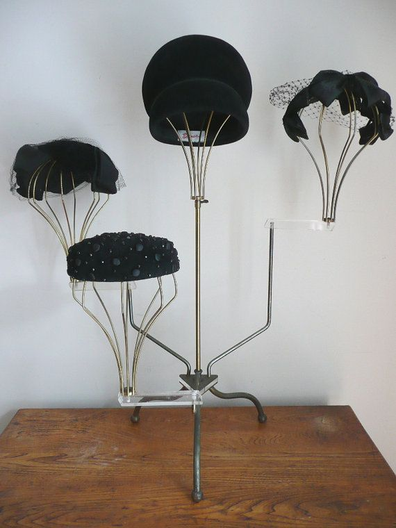 Reserved Vintage 1930s 1940s Millinery Hat Stand Display Etsy In 2020 Millinery Hats Hat Stands Trendy Hat