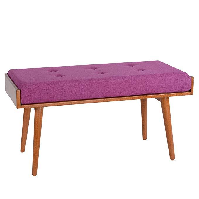 Amazon.com: Porthos Home Robin Accent Bench, Violet ...