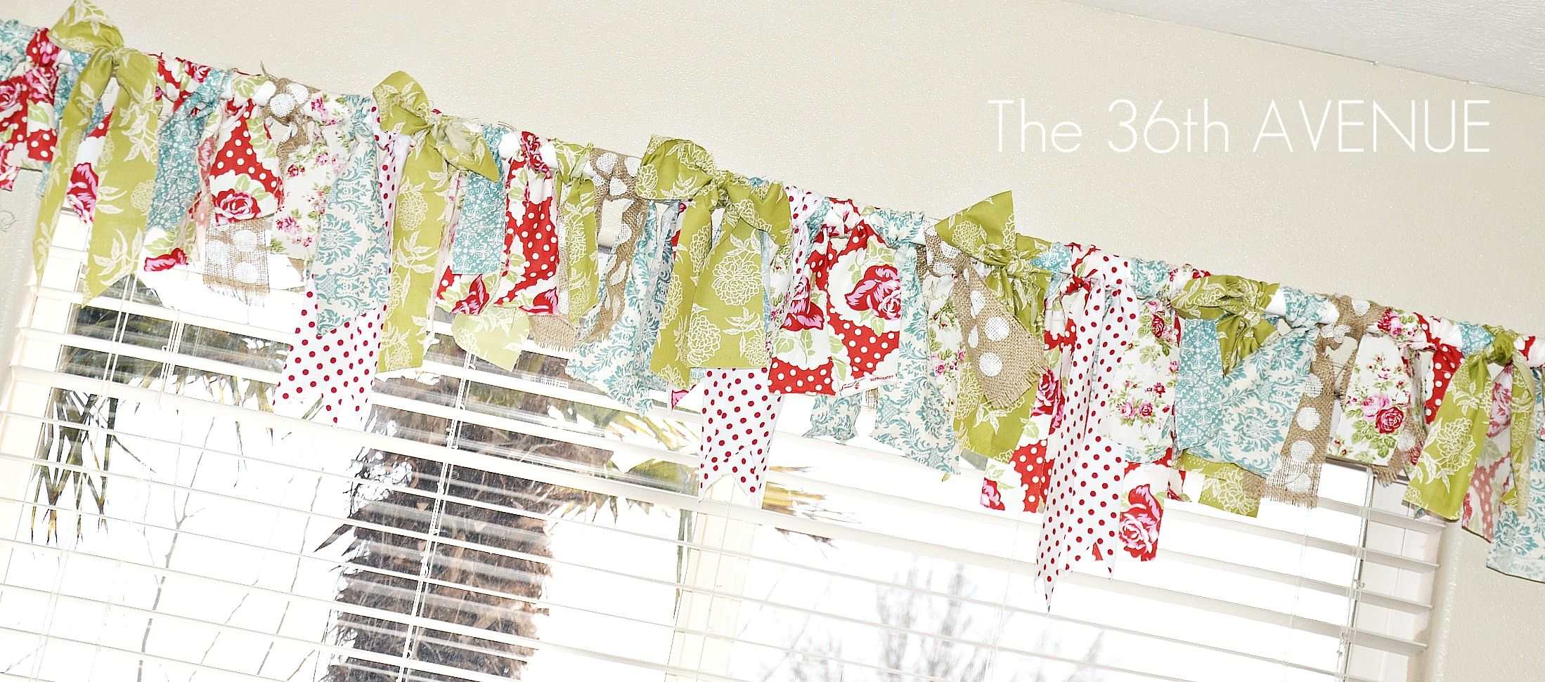 Easy Pretty Window Treatment Just Tie Strips Of Fabric