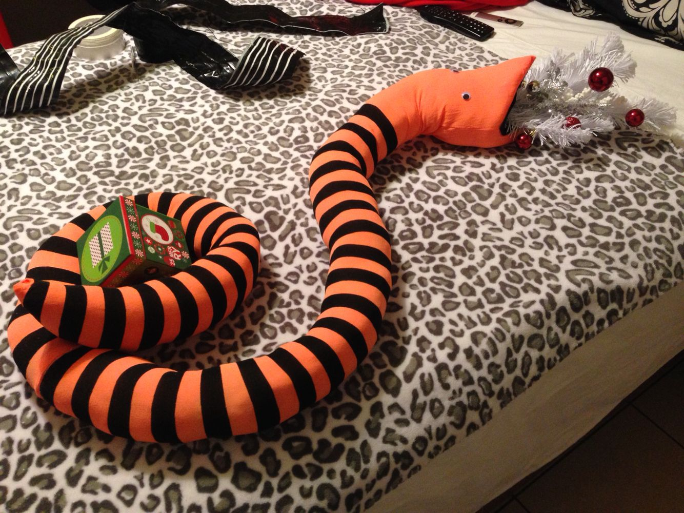 Nightmare before Christmas snake from the movie! Made with witch ...