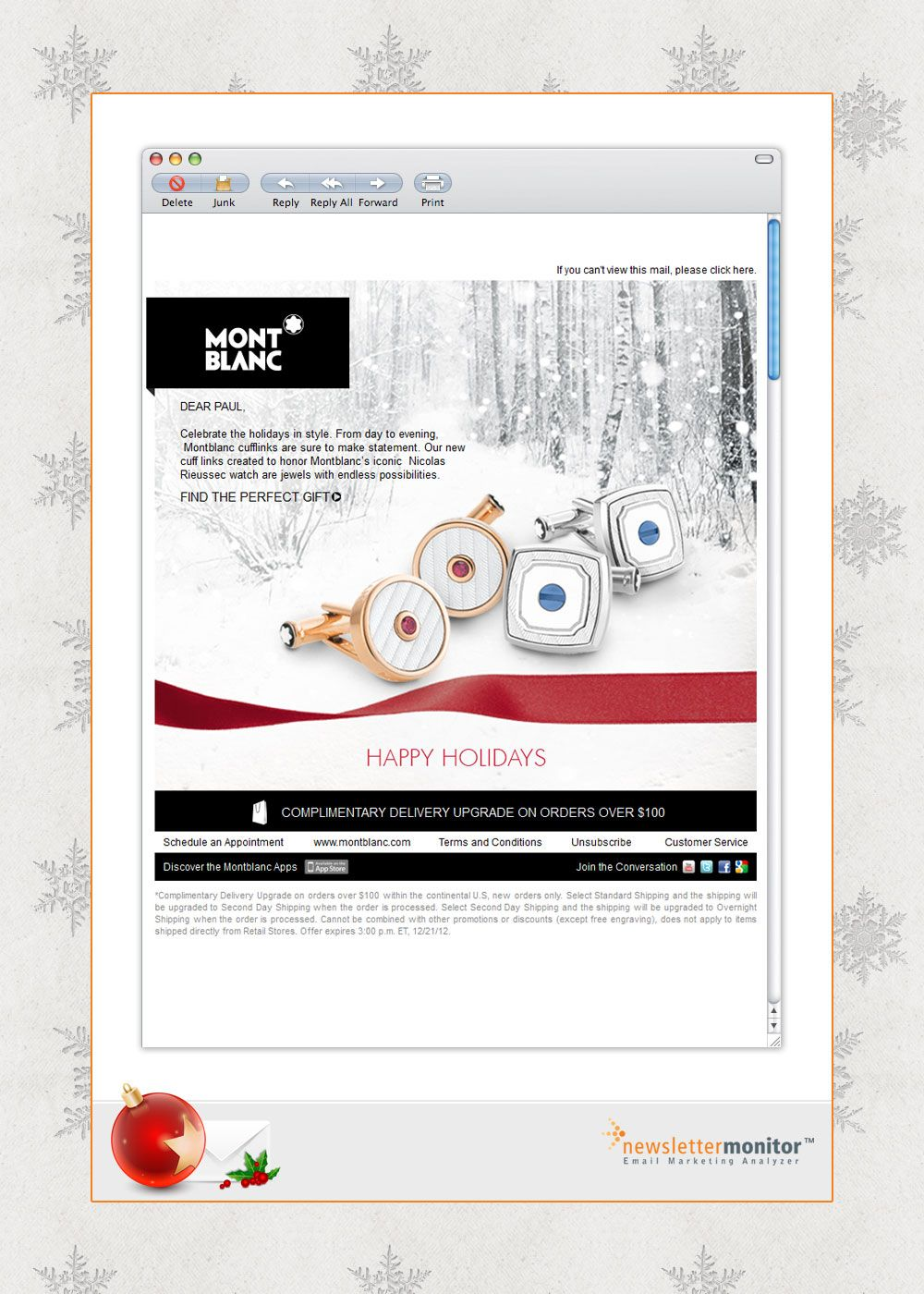 Brand: Montblanc | Subject: Celebrate the Holidays in Style ...