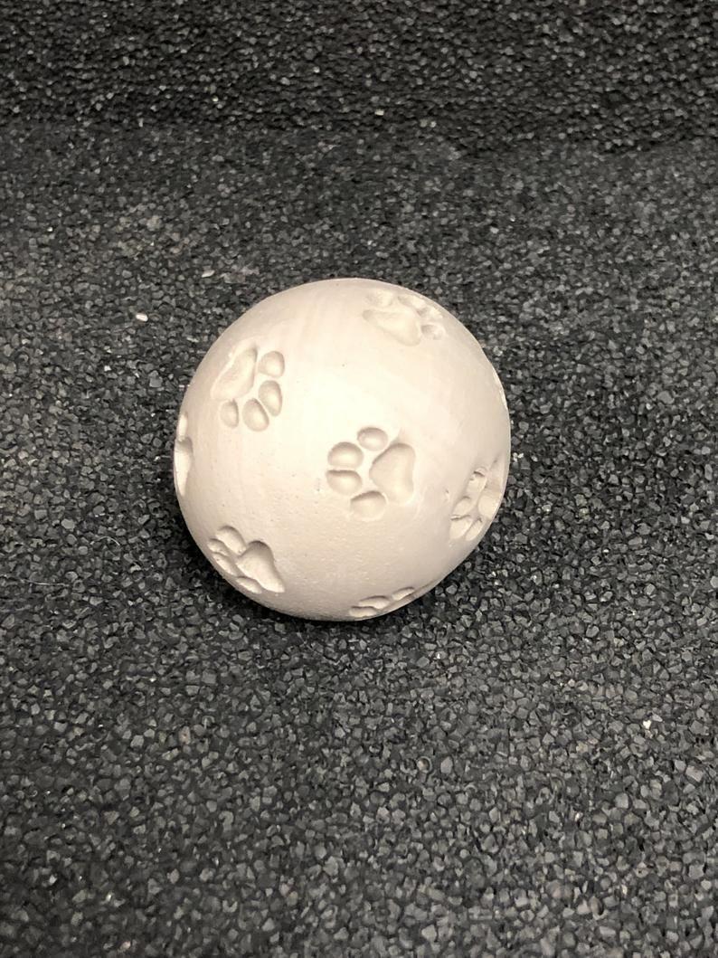 Zen Sand Paw Print Orb, Zen Garden, Miniature Fairy Garden, Garden Decor, Garden Accessories, Zen Ac #zengardens
