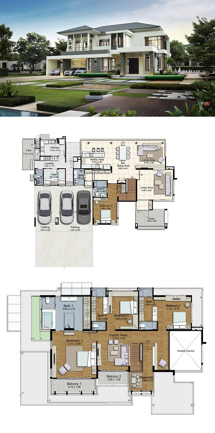 Land And Houses House Designs Exterior My House Plans Modern House Plans