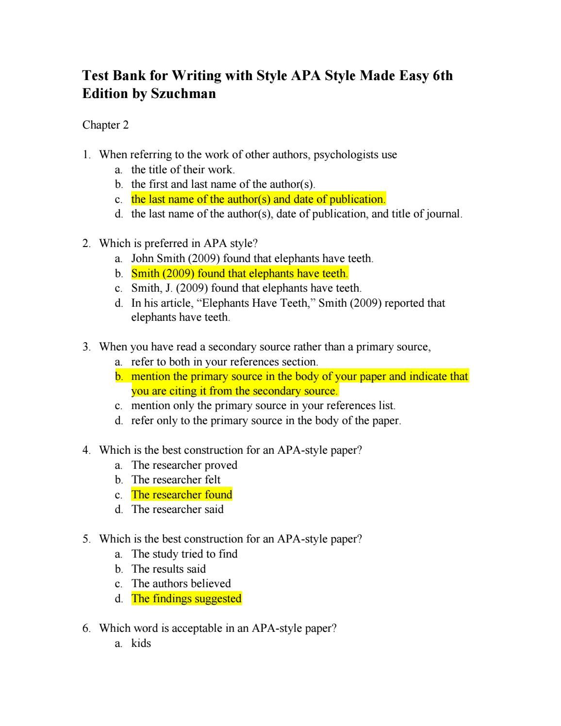 Pin Op Findtestbank How To Cite A Book Chapter Apa 7th Edition
