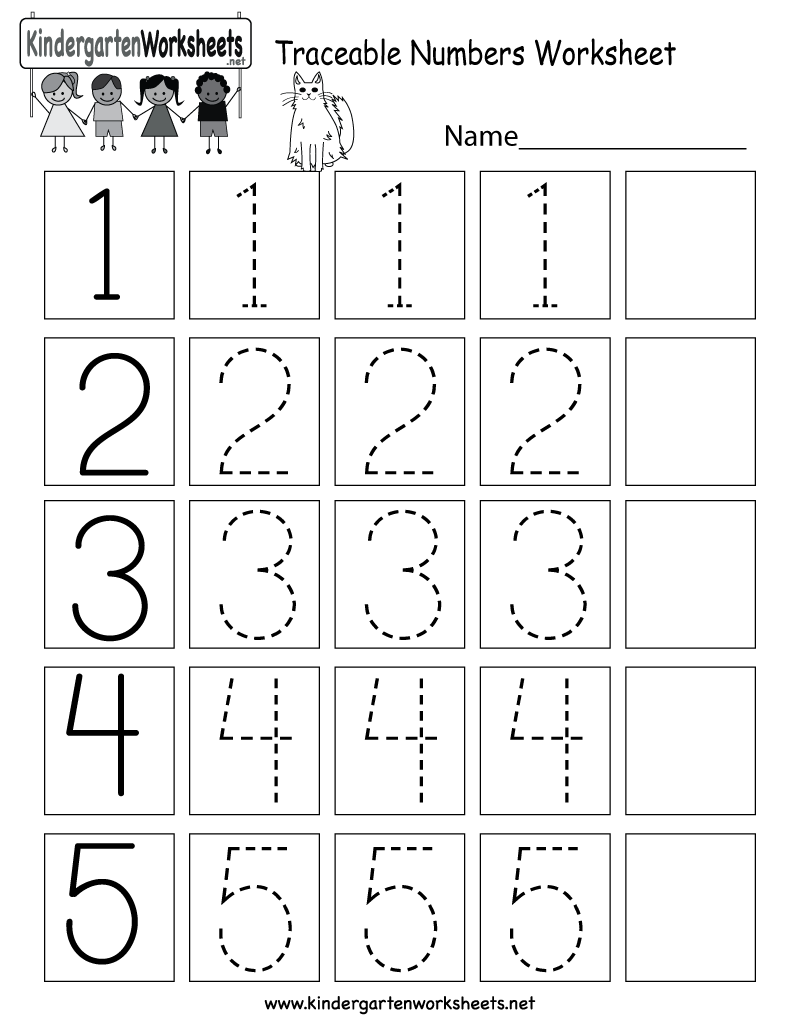 This is a numbers tracing worksheet for preschoolers or ...
