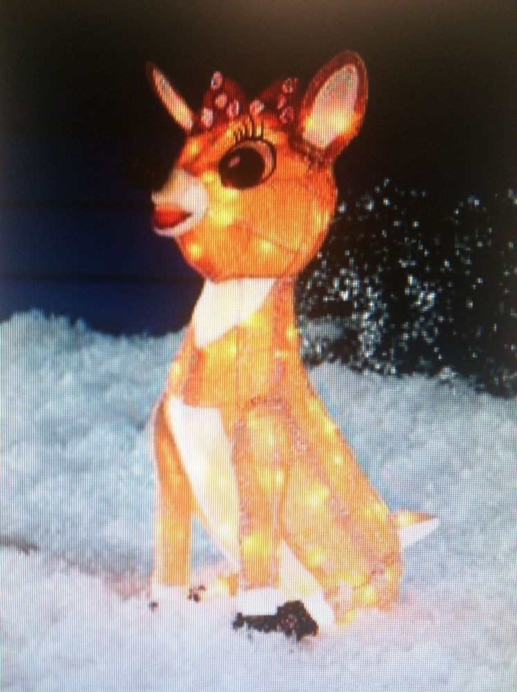 us 4499 rudolph friends clarice 24 3 d tinsel outdoor christmas decoration yard - Rudolph And Friends Christmas Decorations