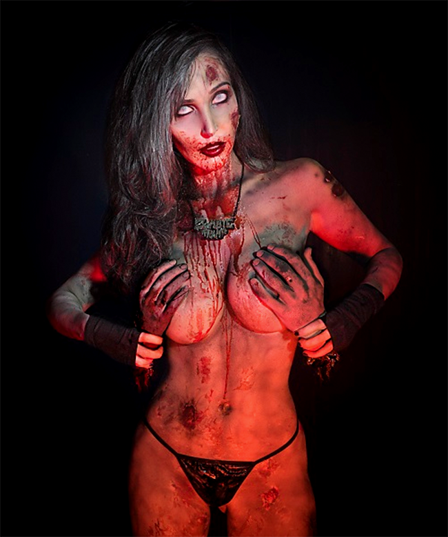Zombie Tramp Diana Prince Awesome Cosplay Horror Art Zombie