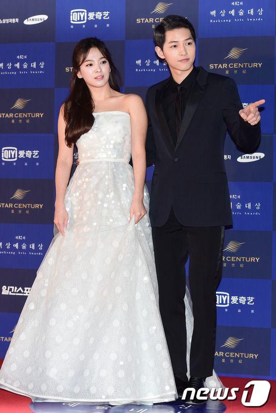 송혜교-송중기, '백상 뜬 한류여신과 남신~'