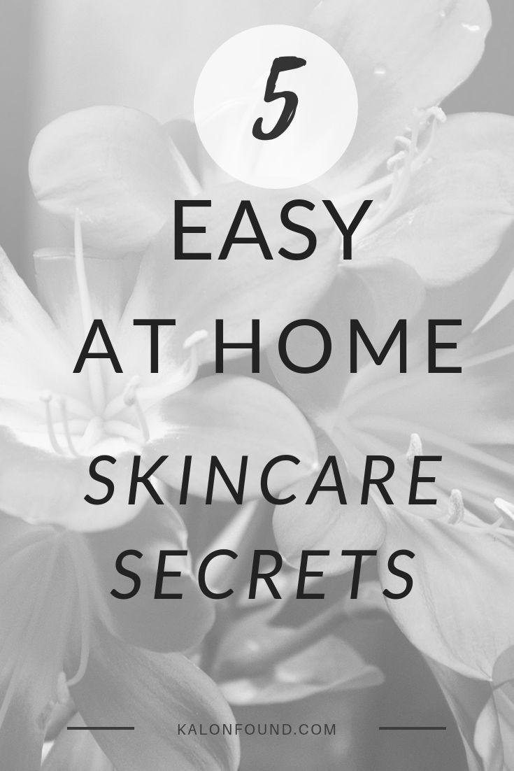 5 Easy, at Home Skincare Secrets #skincare #skin #skincareroutine #skincaretips #glow # ...