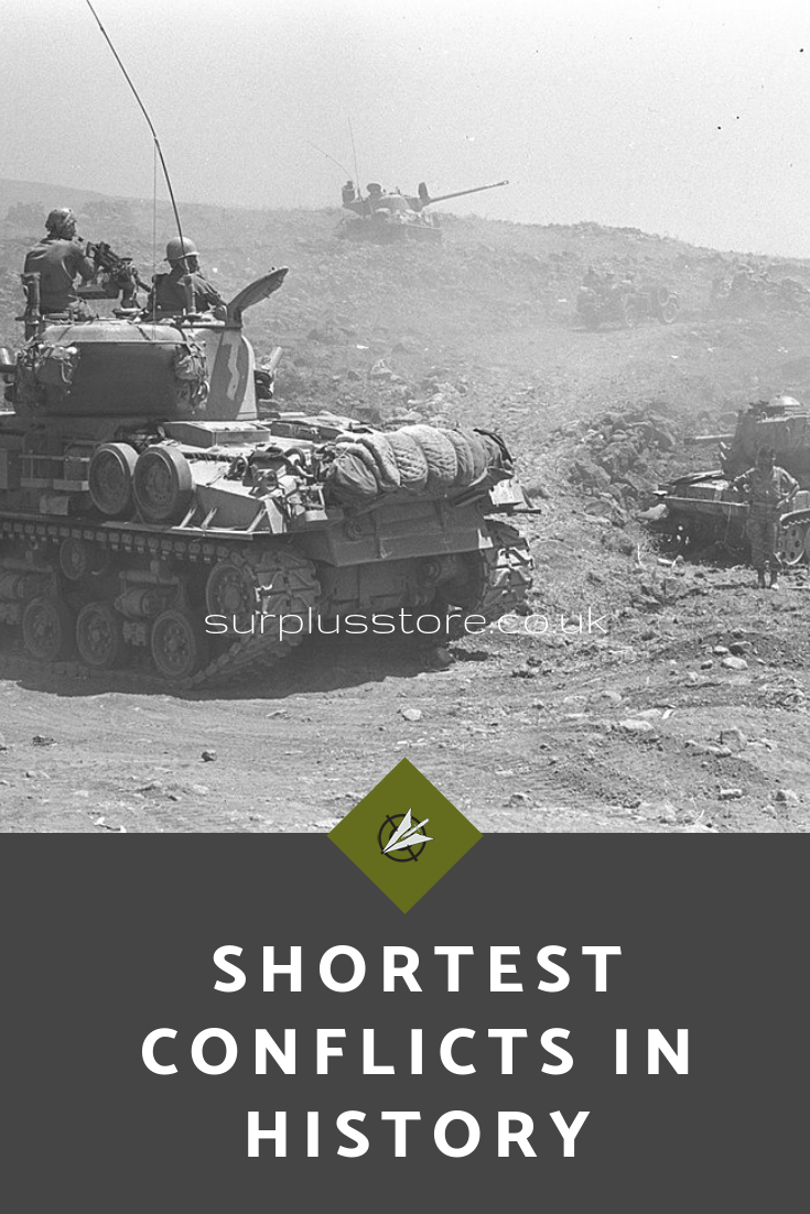 The Shortest Conflicts in History Surplus Store