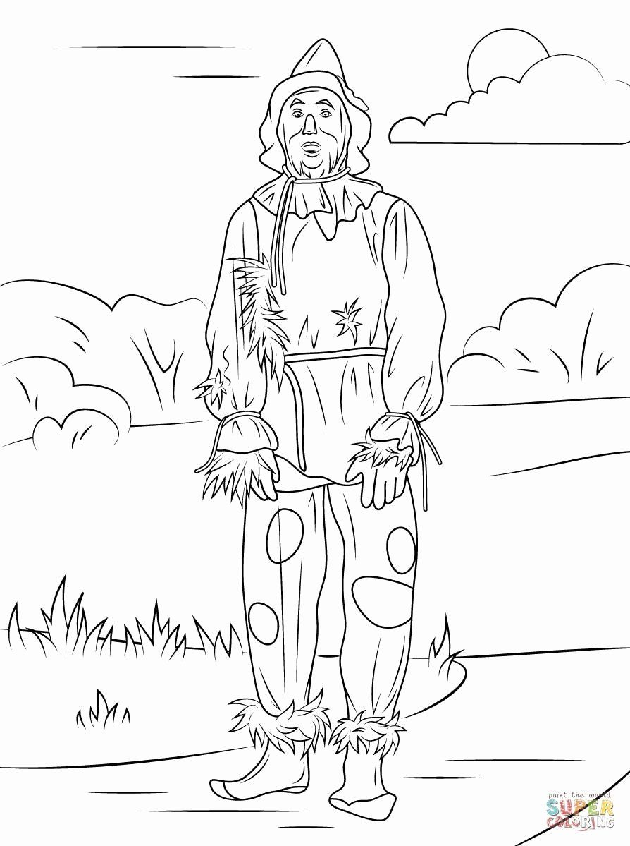 Scarecrow Face Coloring Page Di 2020
