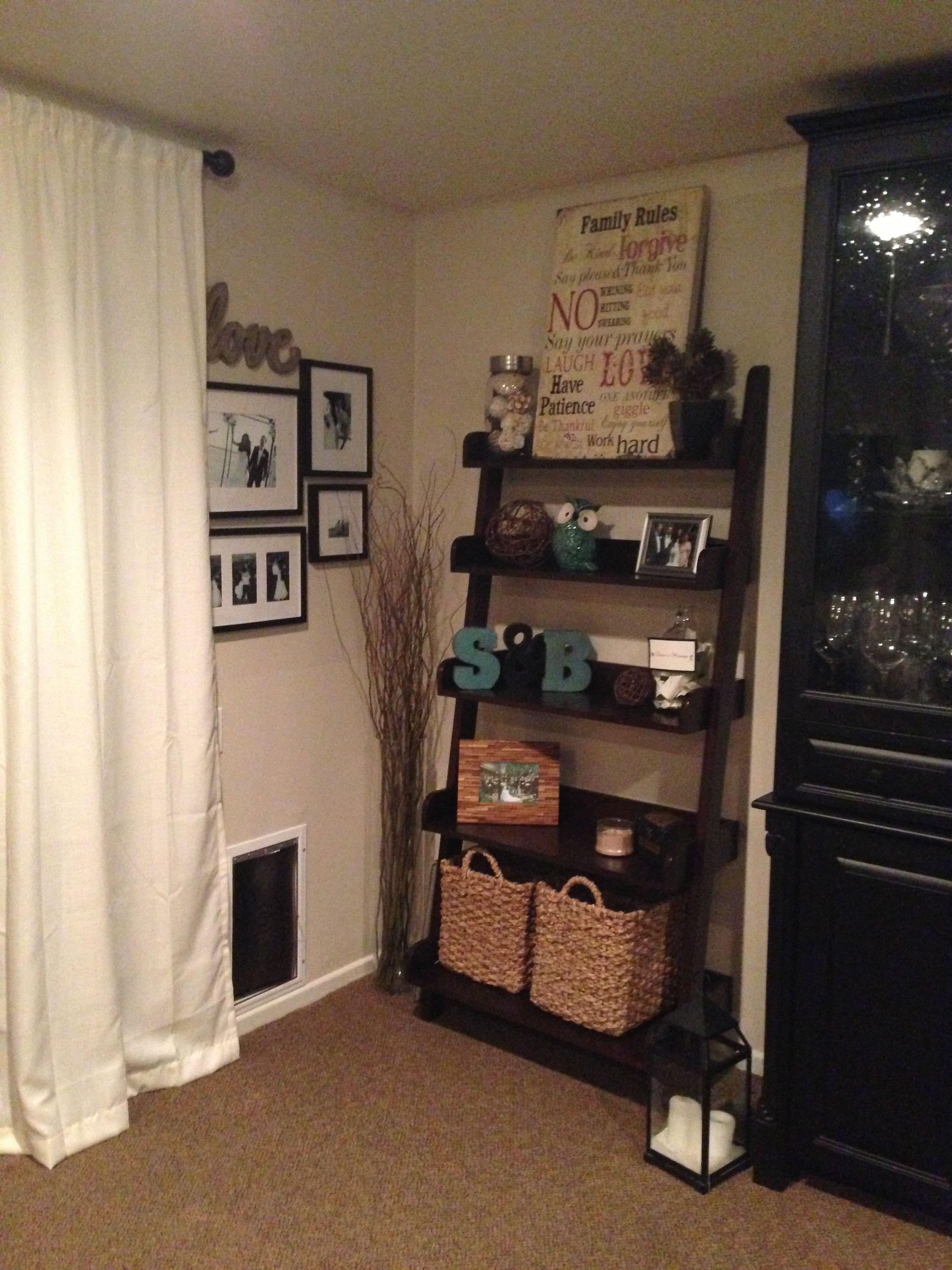 Ladder shelf for the home pinterest shelves living rooms and room
