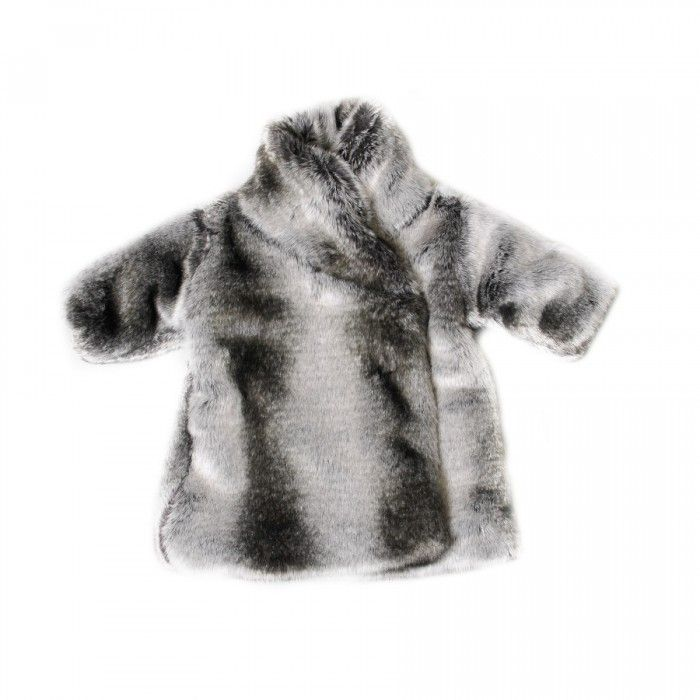 Toddler Girls Faux Fur Coat in Silver by Omamimini | Estella | Red