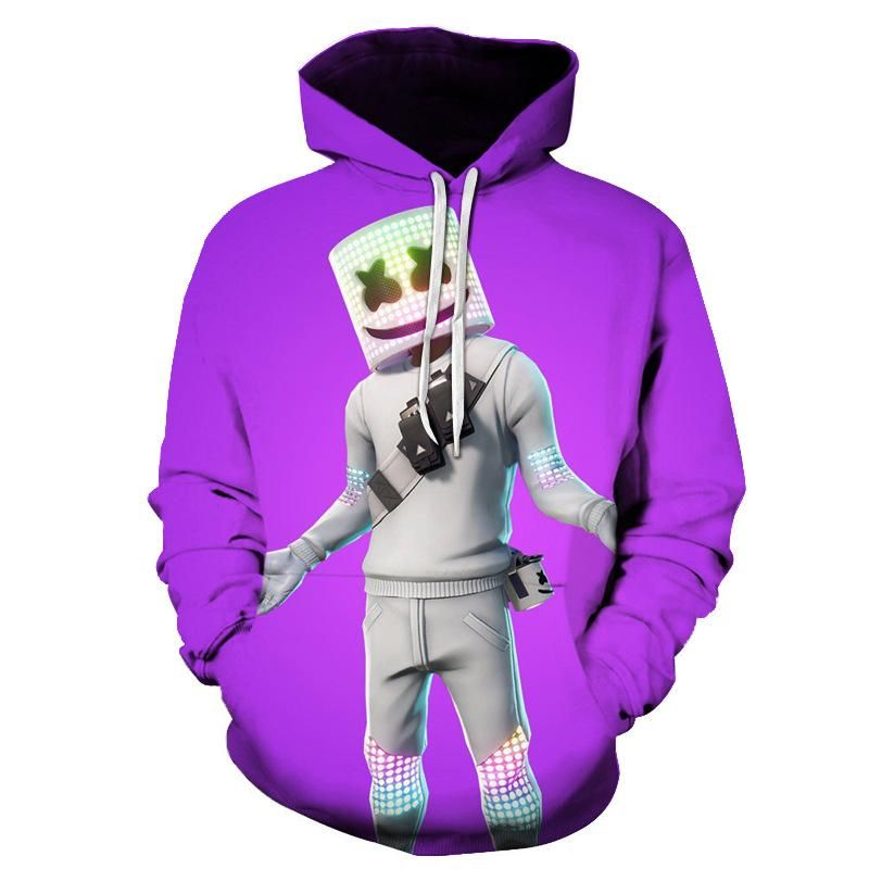 2020 的 Fortnite Marshmello Violet Sweat shirt à Capuche